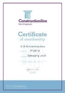 Constructionline Certificate